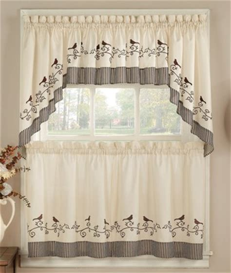 Birds Kitchen Curtains   Linens4Less.com