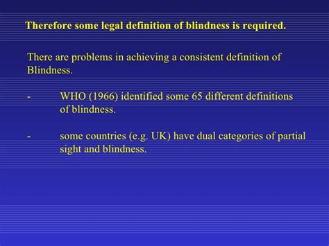 definition of legally blind the definitions and demographics of low vision
