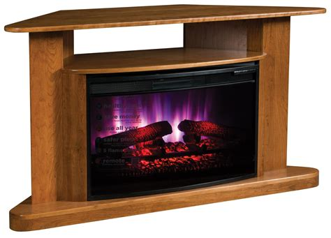 classic corner led fireplace tv stand  dutchcrafters amish