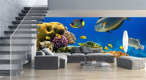 10 Living Room Designs With Wall Murals by 20 Living Rooms With Beautiful Wall Mural Designs