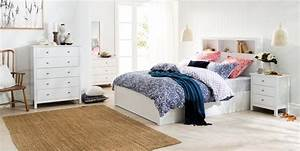 olsen bookend bed frame w bedhead storage matte white With bedhead with storage