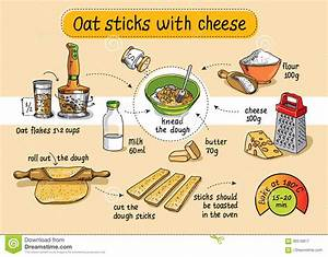 Recipe For Homemade Oat Sticks With Cheese  Step By Step