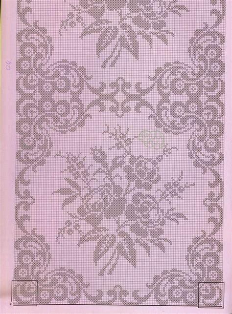 copriletto filet schemi copriletto filet hobby lavori femminili ricamo