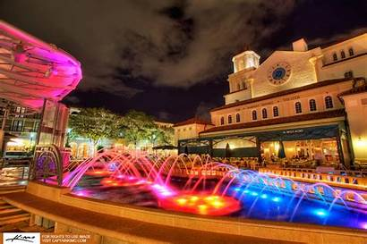 Palm Beach West Cityplace Fountain Nighttime Downtown