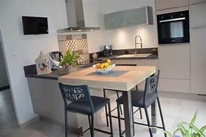 Coin Repas Cuisine : r alisations cuisine en u avec coin repas de cuisines avec ~ Premium-room.com Idées de Décoration