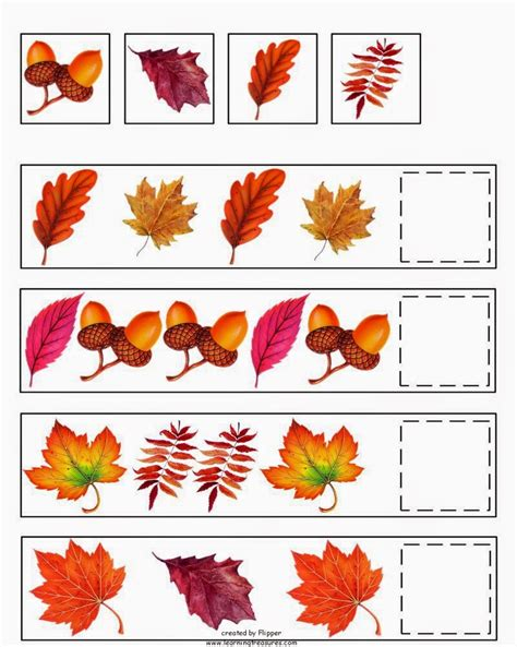 free fall autumn preschool printables montessori nature
