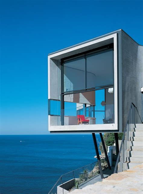 dramatic cliffside house  dover heights idesignarch