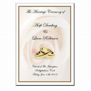 wedding mass booklet colour cover 1 With mass booklet templates