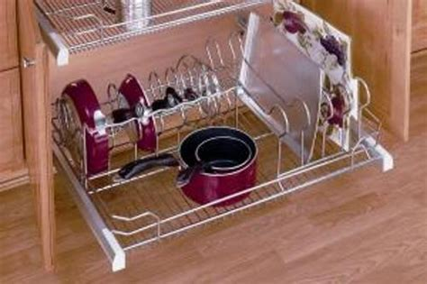 rev a shelf two tier cookware organizer 36 inch pull out cookware organizer chrome 5389 33cr