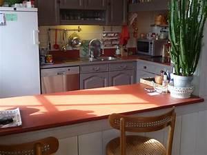 beton cire concept cuisines plan de travail With plan de travail cuisine rouge