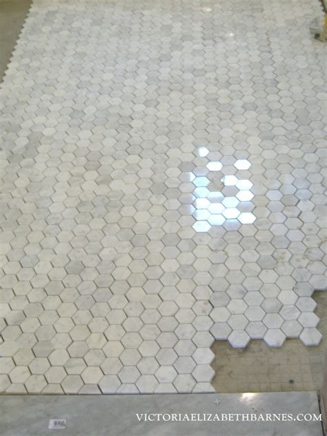 2 Hexagon Marble Floor Tile by Ongoing Tile Saga Elizabeth Barnes