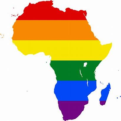 Africa Map Lgbt African Outline Gay Flag