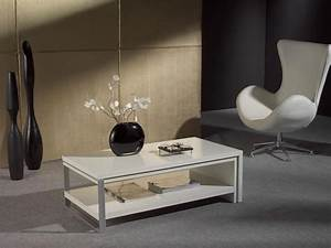 Table Basse Rectangulaire Blanche : table basse design gladys zd1 tbas d ~ Teatrodelosmanantiales.com Idées de Décoration