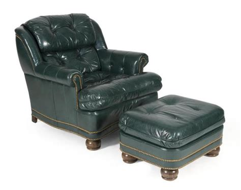 hancock and moore leather ottoman hancock moore green leather chair and ottoman from hickory