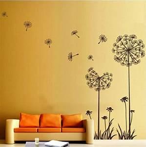 Dandelion flower wall decoration