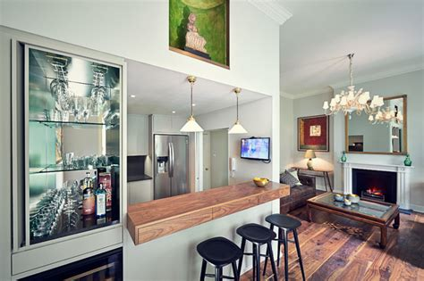 Apartment Bar by Central Apartment Transitional Home Bar