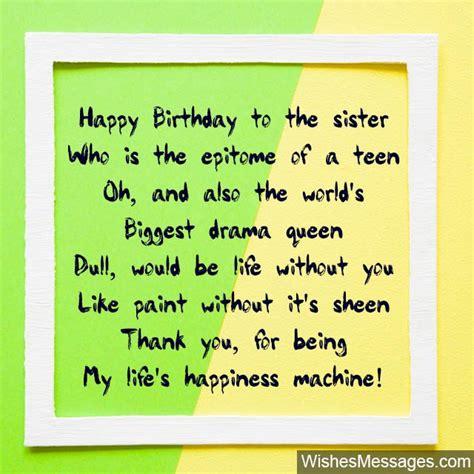 Happy Birthday Big Sister Poems