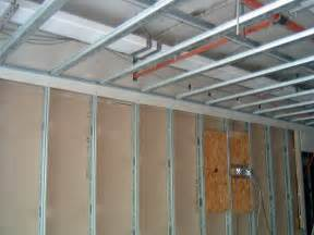 Installing Drywall On Ceiling In Basement by Metal Frame Ceilings Amp Drylining Western Insulation