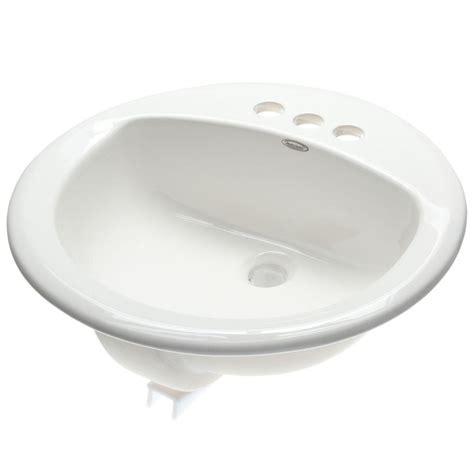 american standard white sink american standard rondalyn self rimming bathroom sink in
