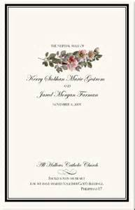wedding ceremony programs templates wedding program exles wedding program wording