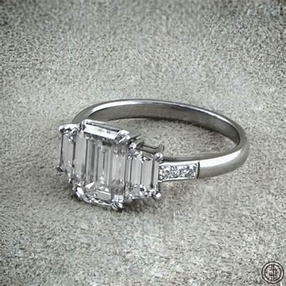 Engagement Diamond Ring Estatediamondjewelry Emerald Cut Jewelry