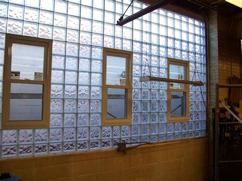 commercial factory industrial glass block vinyl