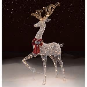 trimming traditions outdoor 200 light silver mesh standing deer christmas decoration