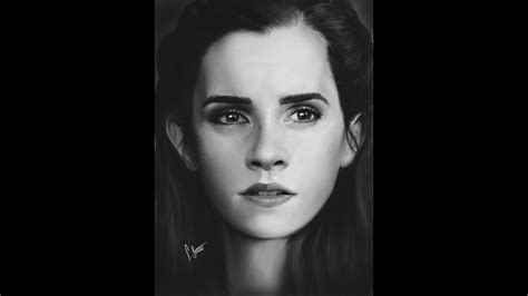 Closer Emma Watson Time Lapse Painting Youtube