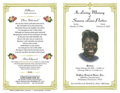 Free Funeral Program Template 10 Best Images Of Funeral Program Booklet Free Funeral