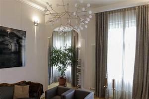 Moderne Gardinen Wohnzimmer : moderne graue gardinen und vorhange mit barocken einflussen in berlin wannsee gardinen ~ Sanjose-hotels-ca.com Haus und Dekorationen