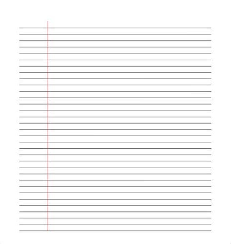 lined paper template pdf 10 lined paper templates doc pdf excel free premium templates
