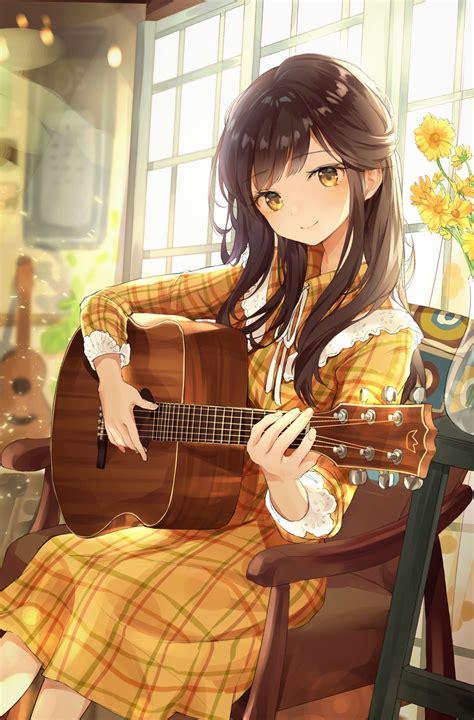 foto de Fille brune yeux jaune Dessin kawaii manga Dessin manga