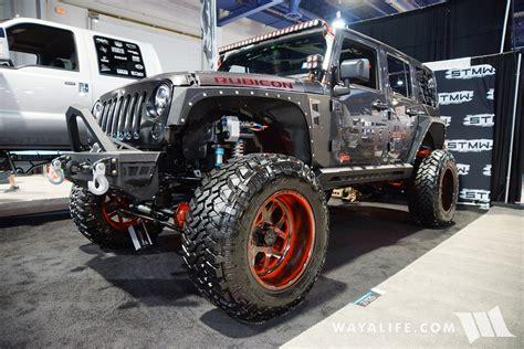 sema jeep 2016 2016 sema stmw jeep jk wrangler