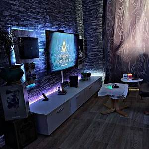 Living, Room, Space, Gaming, Room, Man, Cave