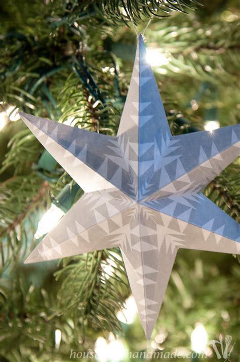 printable  snowflake star ornaments  houseful