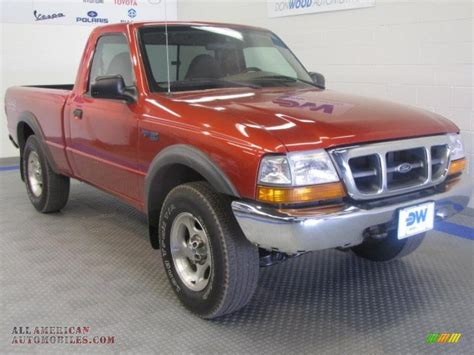 1999 ford ranger xlt regular cab 4x4 in bright metallic a67919 all american