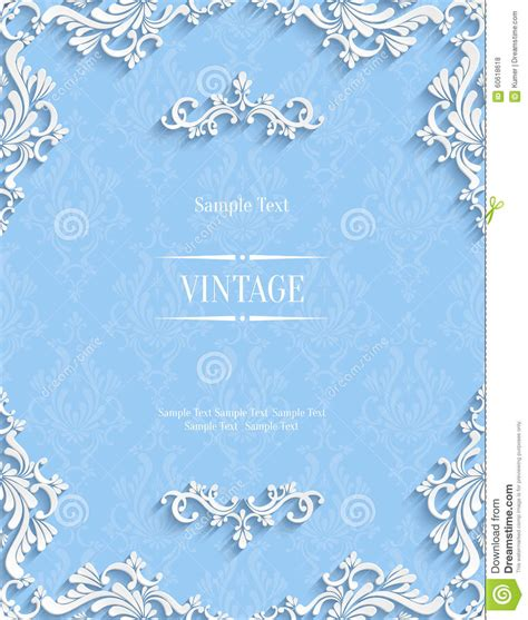 Vector Blue Floral 3d Background Template For Christmas