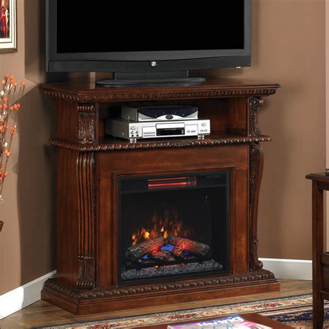 media console electric fireplace corinth infrared electric fireplace media console in