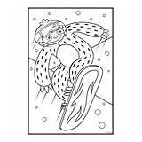 Coloring Crayola Sloths Llamas Snowboard sketch template