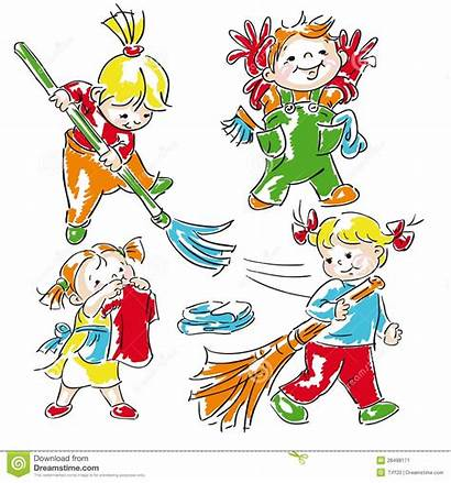 Cleaning Classroom Clipart Clean Children Class Kid