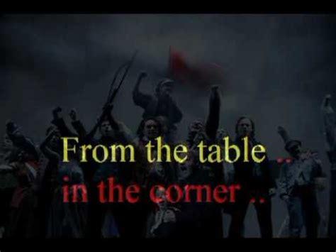 empty chairs at empty tables karaoke mp3 hugh jackman suddenly les miserables instrumental