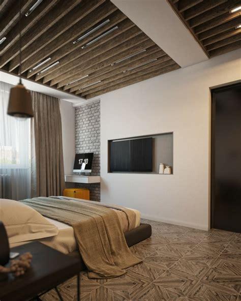 chambre a coucher moderne en bois poutres en bois pour la déco de la chambre à coucher moderne