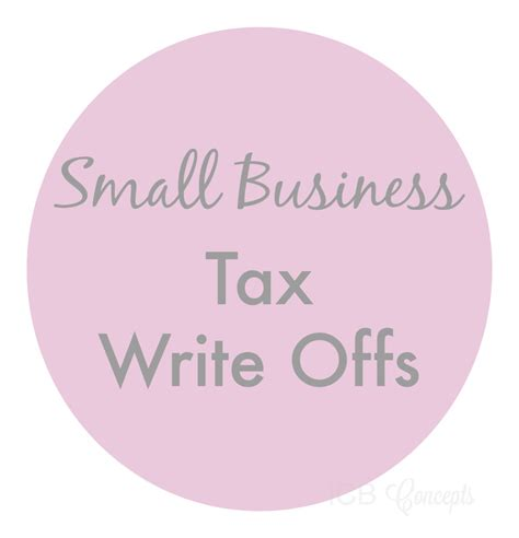 Small Business Tax Write Offs  Imperfect Concepts