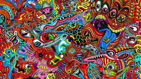 Psychedelic Background Wallpaper Hd