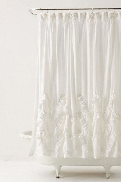 anthropologie shower curtain waves of ruffles shower curtain anthropologie