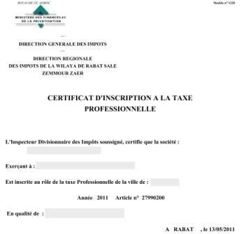 attestation de non imposition modèle n 4169 certificat d inscription 224 la taxe professionnelle