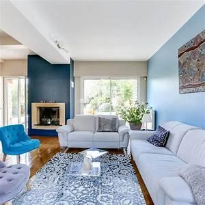 deco salon gris et bleu ciel With marvelous idee deco pour maison 17 tapis design pas cher tapis salon contemporain meubles