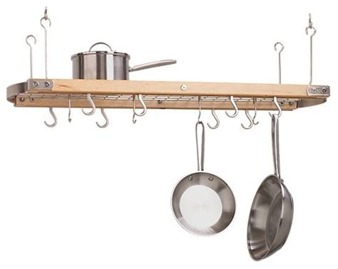 large maple ceiling pot rack modern pot racks and