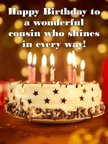 wonderful cousin happy birthday card birthday