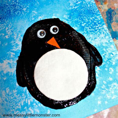 easy penguin craft messy  monster